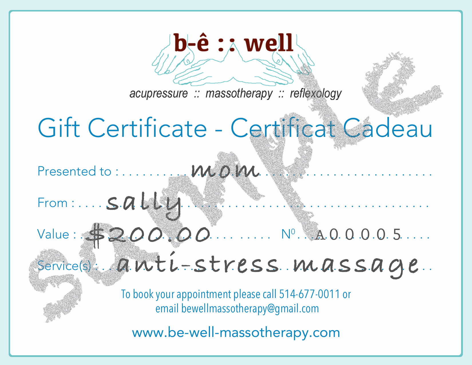 gift certificate b ecirc well holistic therapies gift certificate sample
